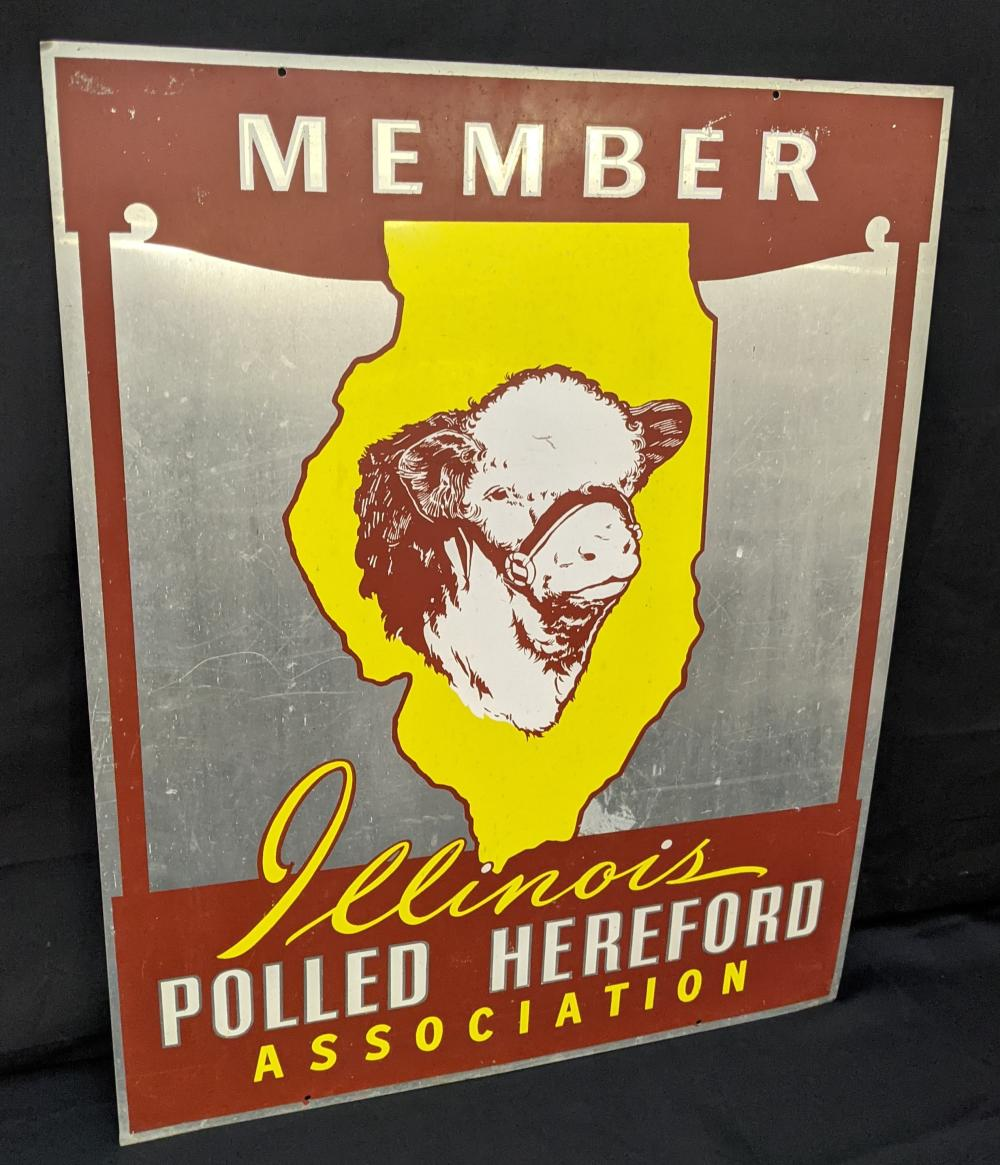 2 SIDED SIGN MEMBER ILLINOIS POLLED HEREFORD ASSN