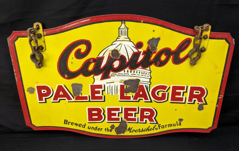 2 SIDED PORCELAIN SIGN CAPITOL BEER JEFFERSON CITY