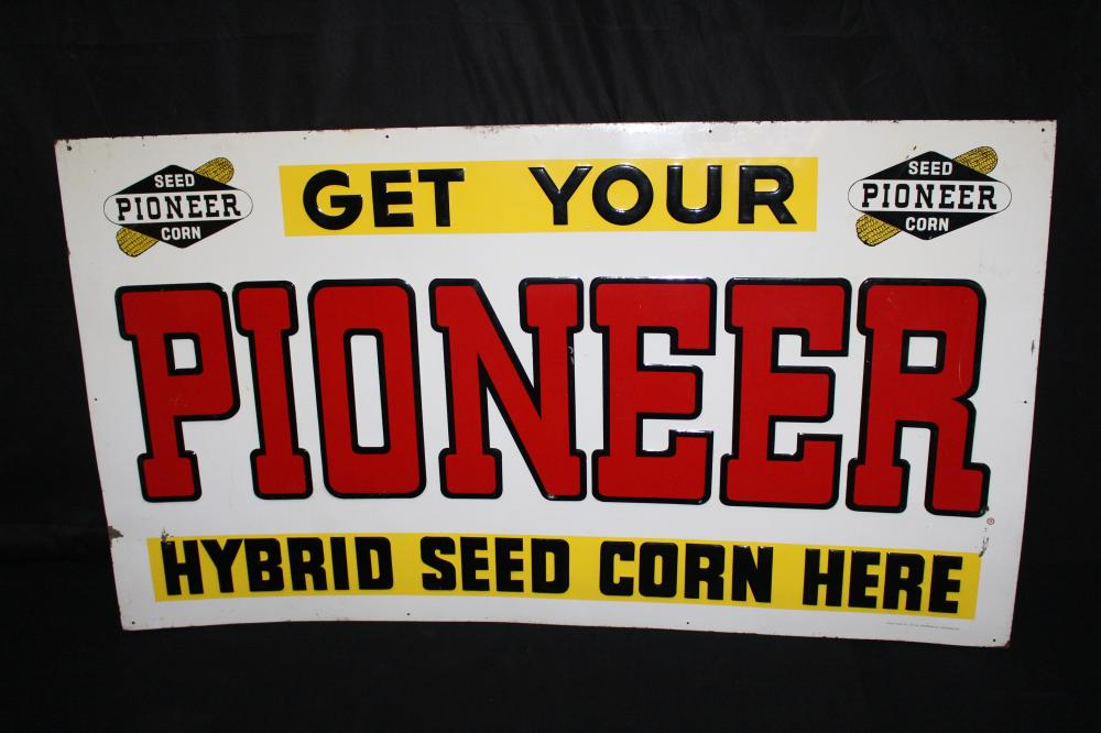 GET YOUR PIONEER HYBRID SEED CORN TIN FARM SIGN
