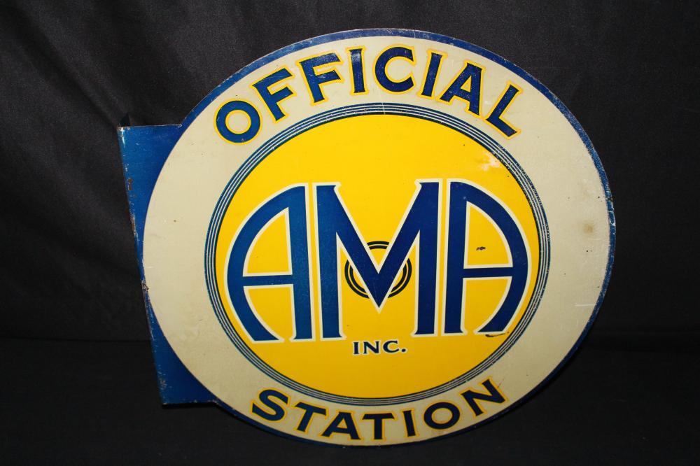 AMERICAN MOTOR AID OFFICIAL STATION FLANGE SIGN
