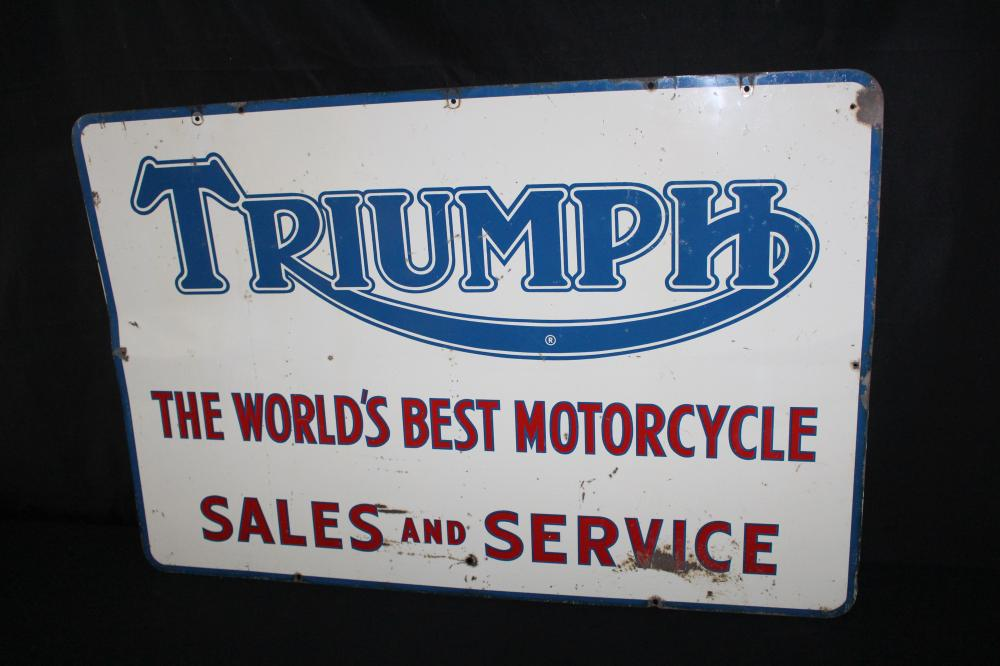 TRIUMPH MOTORCYCLES SALES & SERVICE SIGN