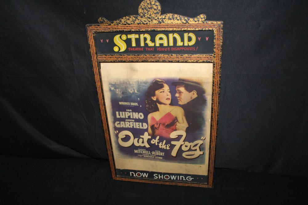 EARLY STRAND MOVIE THEATER LOBBY POSTER SIGN
