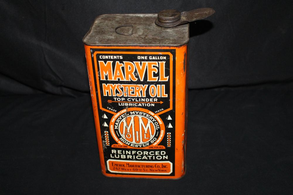 EARLY EMEROL MFG NEW YORK MARVEL MYSTERY OIL CAN