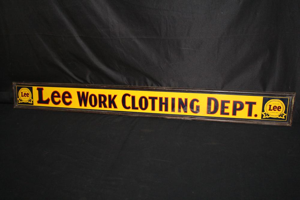 LEE WORK CLOTHING DEPT COUNTRY STORE SIGN