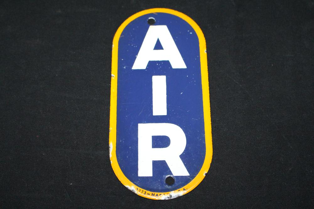 PORCELAIN SUNOCO GAS STATION AIR METER SIGN