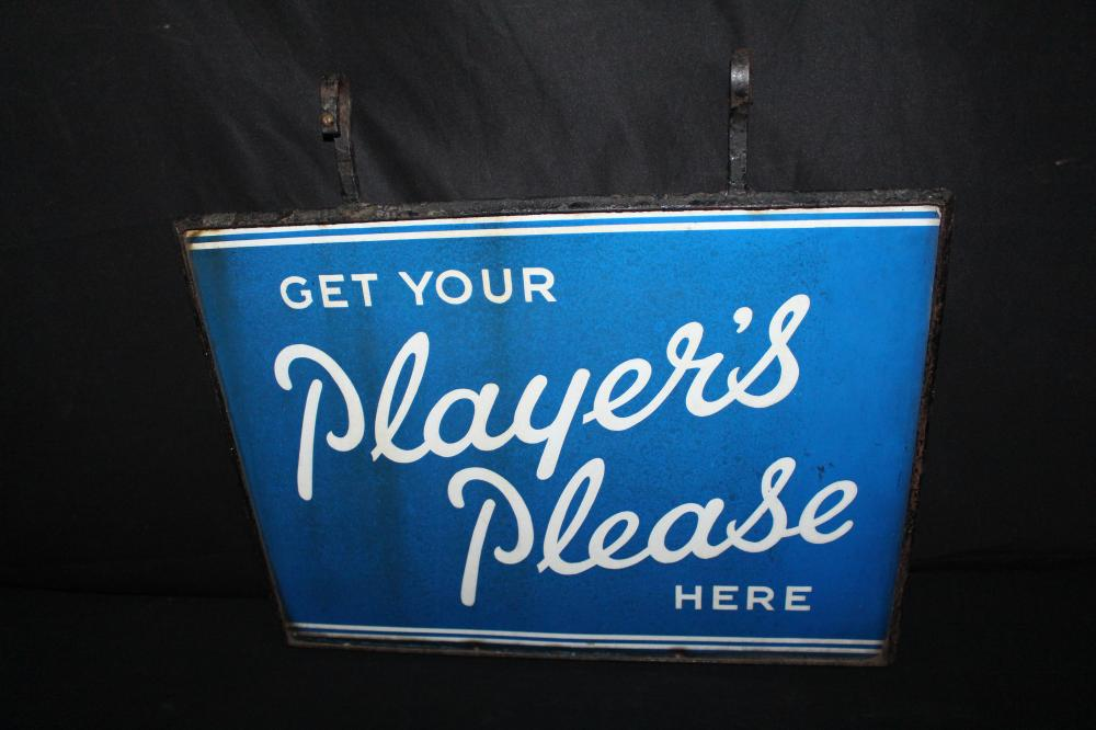 PORCELAIN PLAYERS CIGARETTES SIGN IRON FRAME