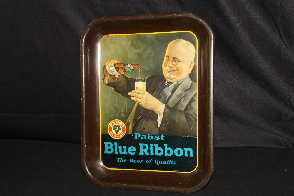 PABST BLUE RIBBON BEER TRAY SIGN