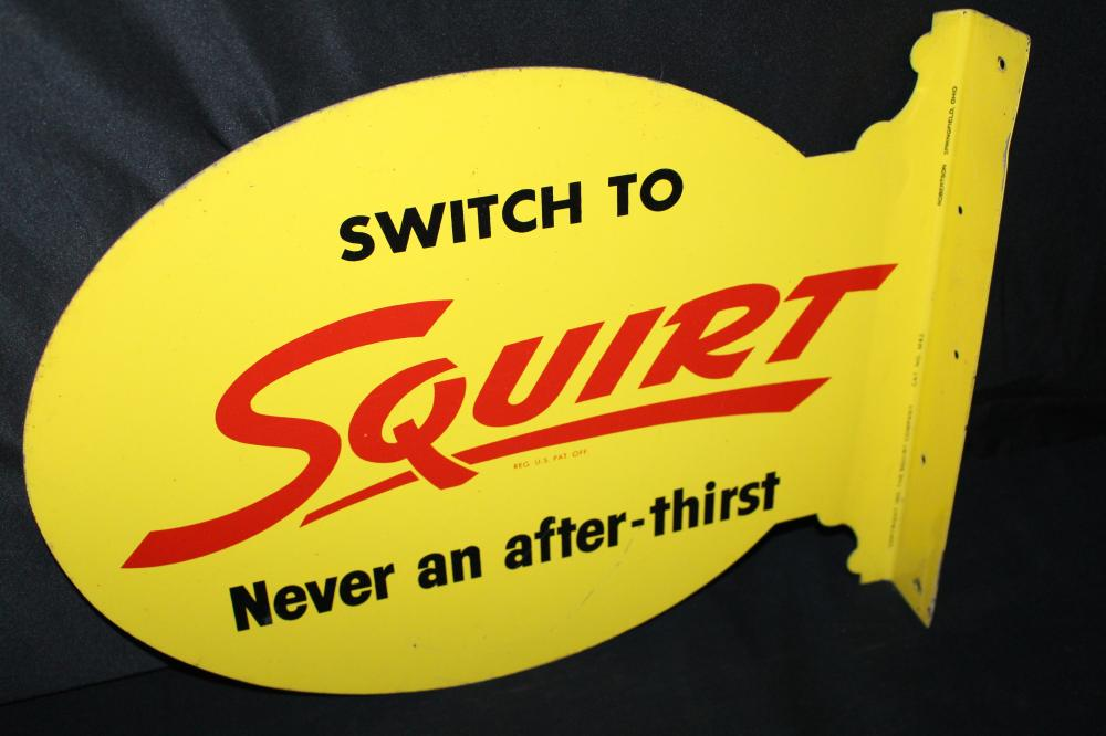 SWITCH TO SQUIRT SODA POP FLANGE SIGN