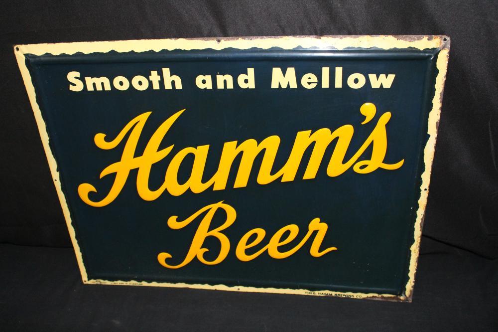 HAMMS SMOOTH MELLOW BEER TIN SIGN