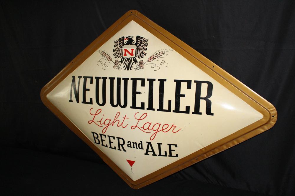 NEUWEILER LIGHT LAGER BEER BUBBLE SIGN