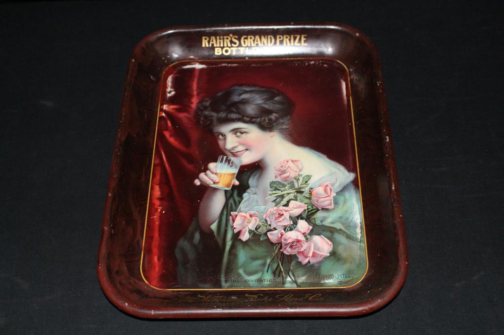WILLIAM RAHR SONS MANITOWOC GRAND PRIZE BEER TRAY