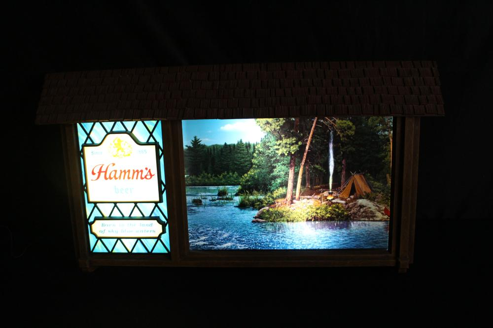 HAMMS BEER SCENORAMA MOVING WATER MOTION SIGN