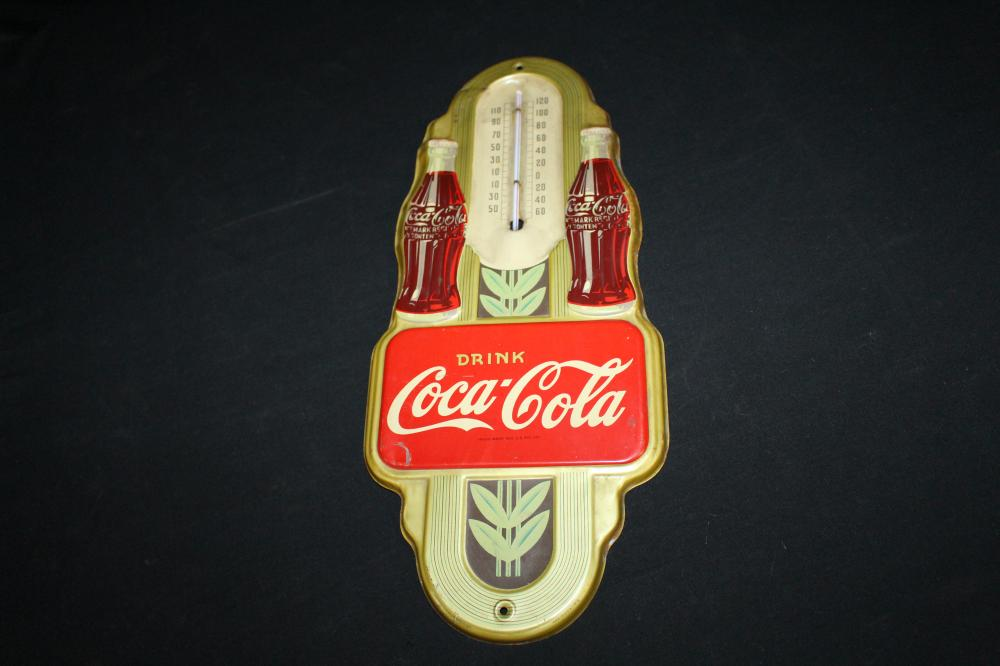 1942 DRINK COCA COLA THERMOMETER SIGN