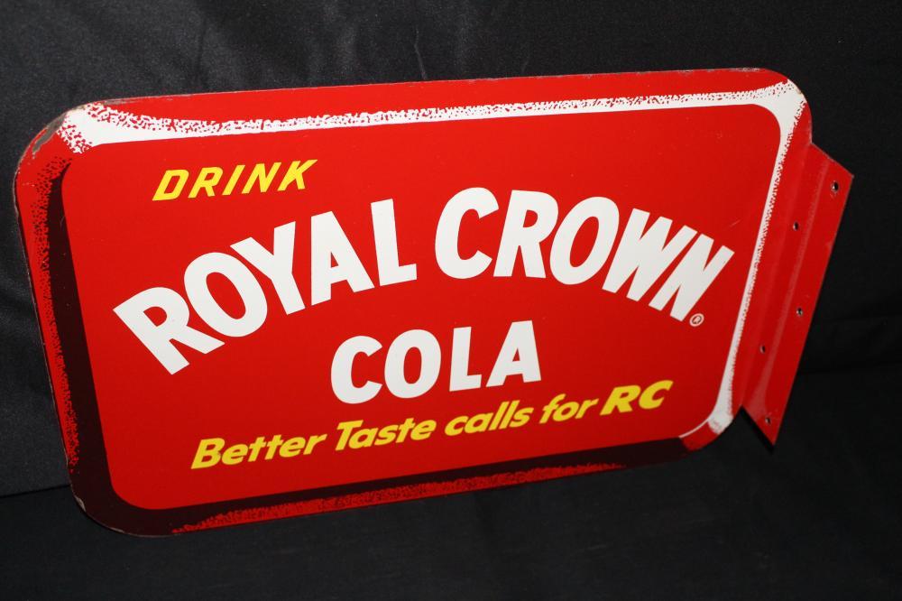 NOS ROYAL CROWN COLA SODA POP FLANGE SIGN