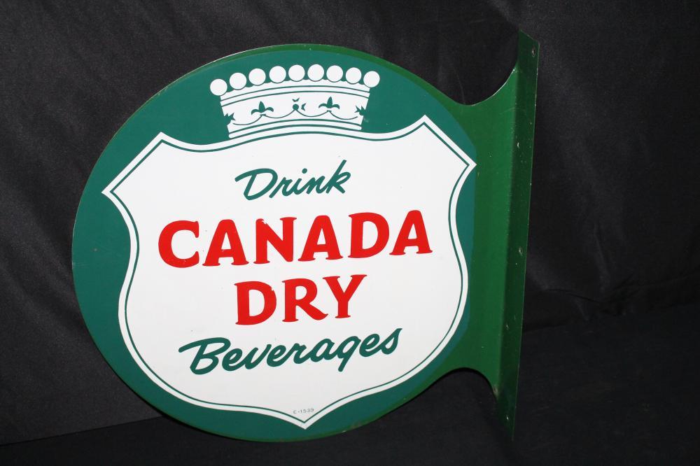 DRINK CNADA DRY SODA POP FLANGE SIGN