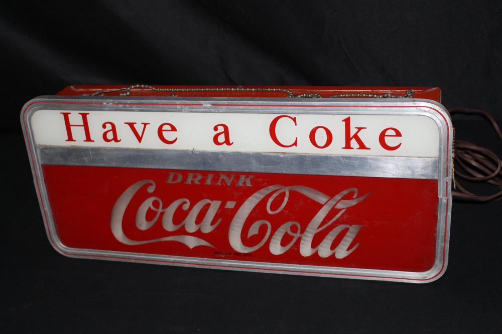 HAVE A COKE DRINK COCA COLA LIGHTED SIGN