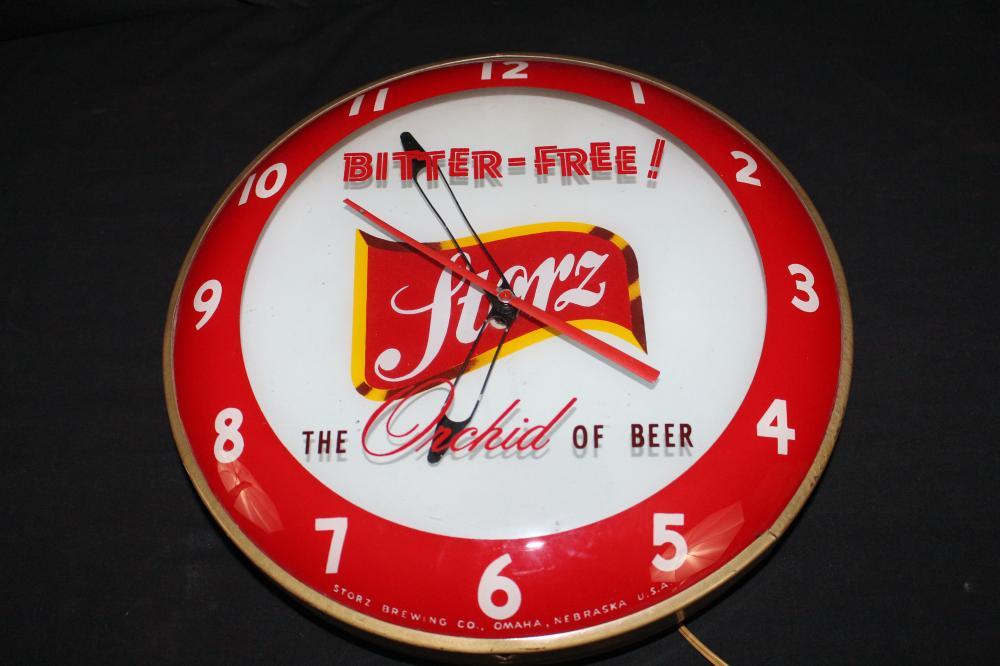 VERY RARE STORZ BEER OMAHA NE CLOCK SIGN