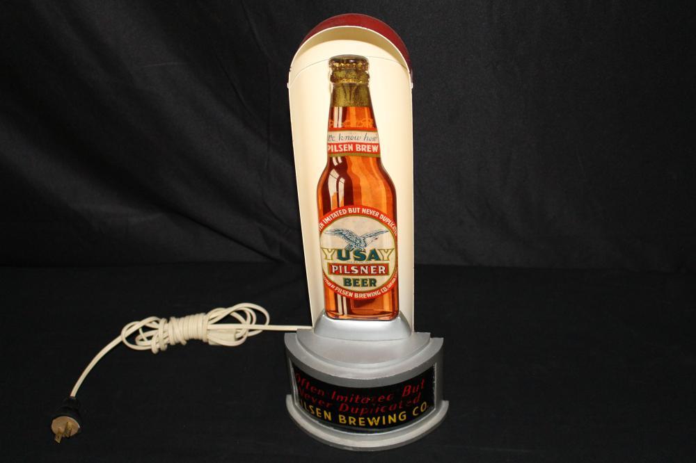 YUSAY PILSNER BEER PILSEN BREWING CHICAGO SIGN