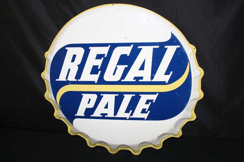 REGAL PALE BREWING CO BEER BOTTLE CAP SIGN