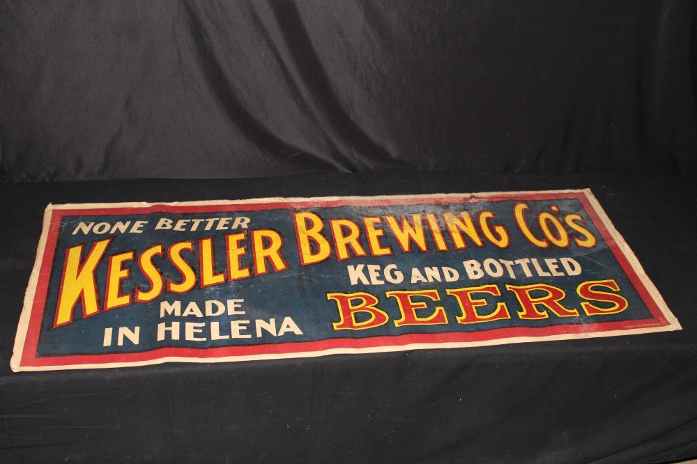 KESSLER BREWING CO  HELENA MT CANVAS BEER SIGN