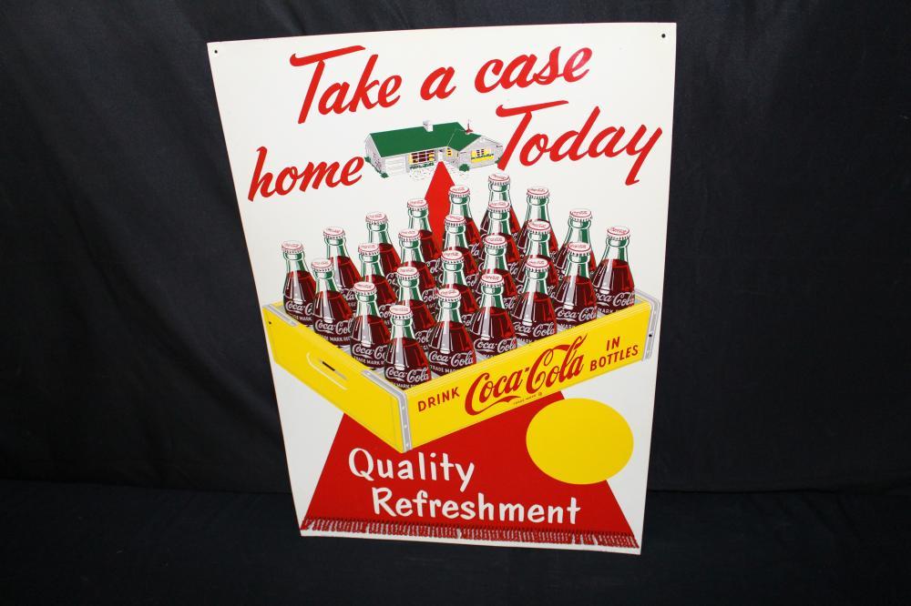 NOS TAKE A CASE HOME COCA COLA SIGN