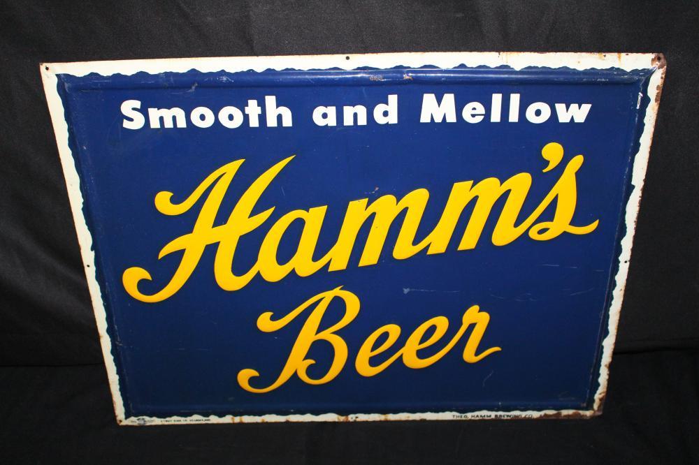 SMOOTH MELLOW HAMMS BEER TIN SIGN