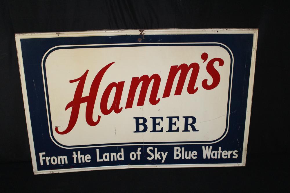 LARGE HAMMS BEER TIN SIGN