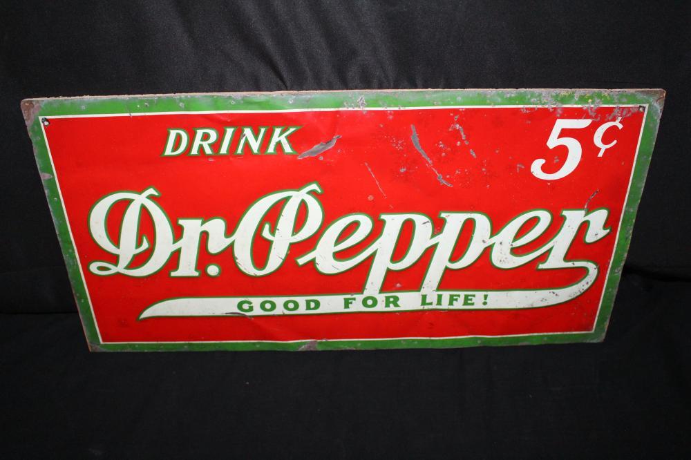 DRINK DR PEPPER GOOD FOR LIFE SODA POP TIN SIGN