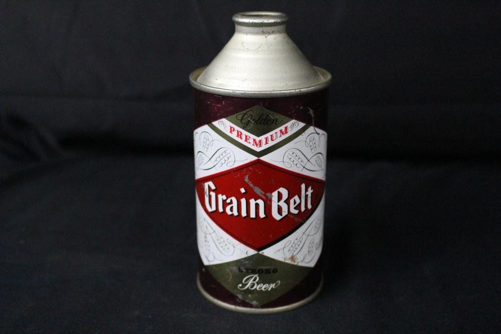 GRAIN BELT PREMIUM STRONG BEER CONE TOP CAN