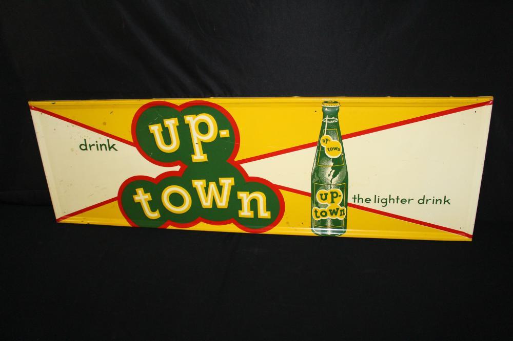 DRINK UPTOWN LEMON LIME SODA POP TIN SIGN