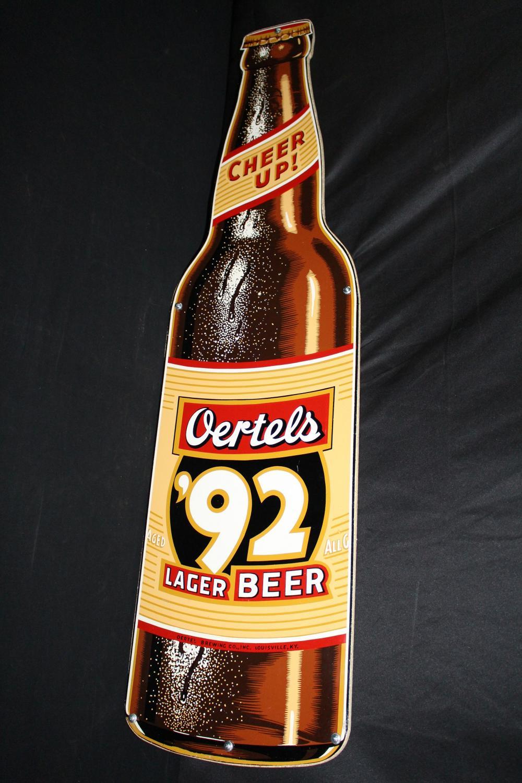 OERTELS 92 LAGER BEER BOTTLE TIN SIGN LOUISVILLE