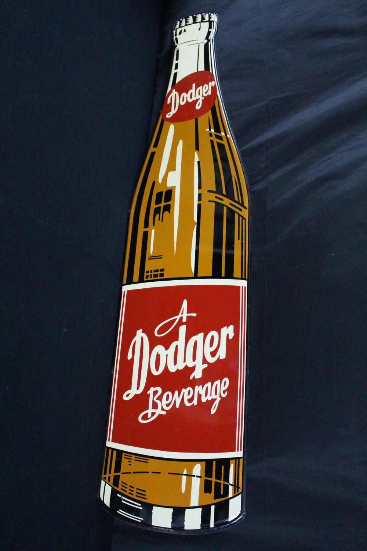 DODGER BEVERAGE COLA SODA POP BOTTLE SIGN