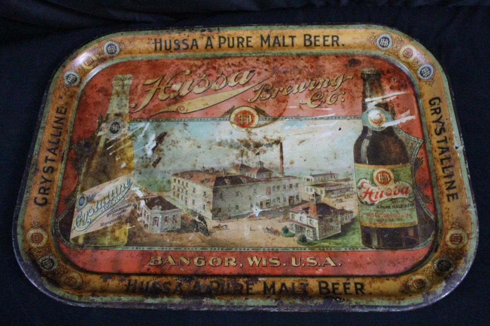 RARE HUSSA BREWERY BANGOR WI PRE PRO BEER TRAY