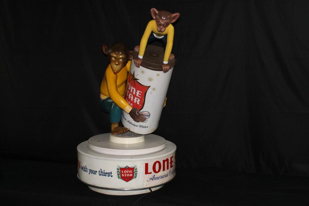PAUL STANLEY LONE STAR BEER MONKEY BUSINESS SIGN