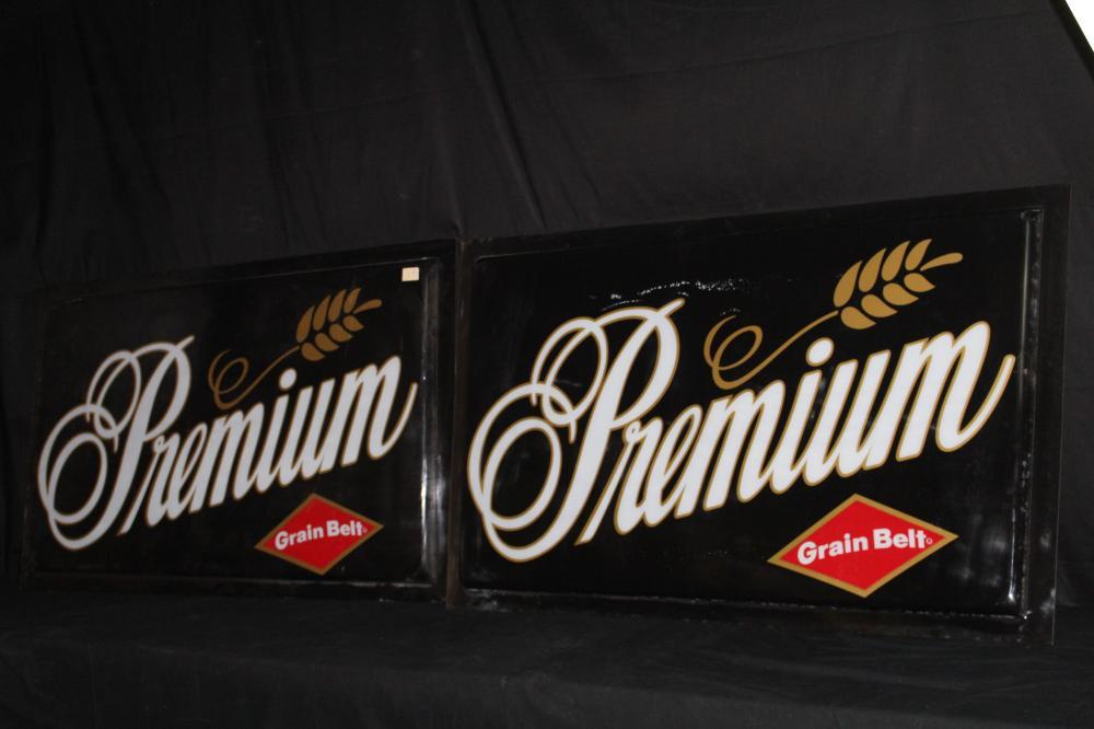 GRAIN BELT PREMIUM BEER PLASTIC SIGN PANELS
