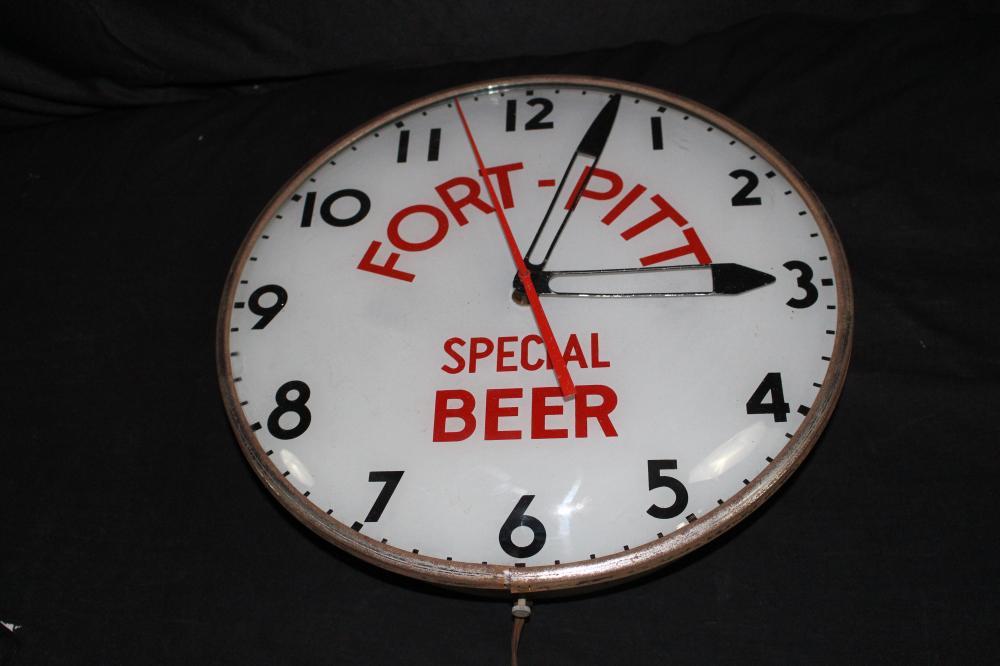 FORT PITT SPECIAL BEER CLOCK SIGN