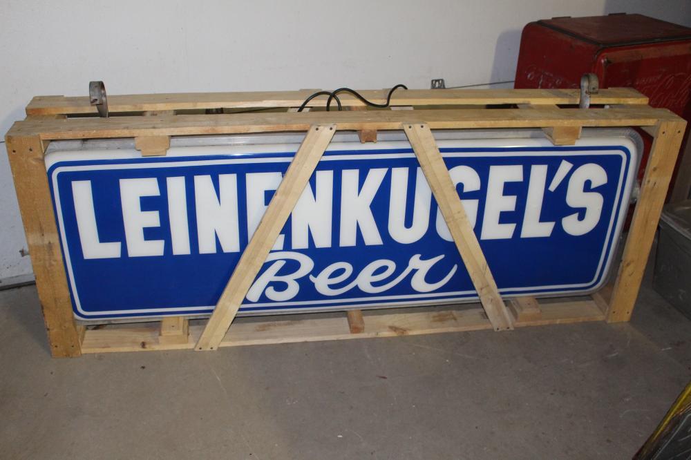 LEINENKUGELS BEER OUTDOOR LIGHTED SIGN