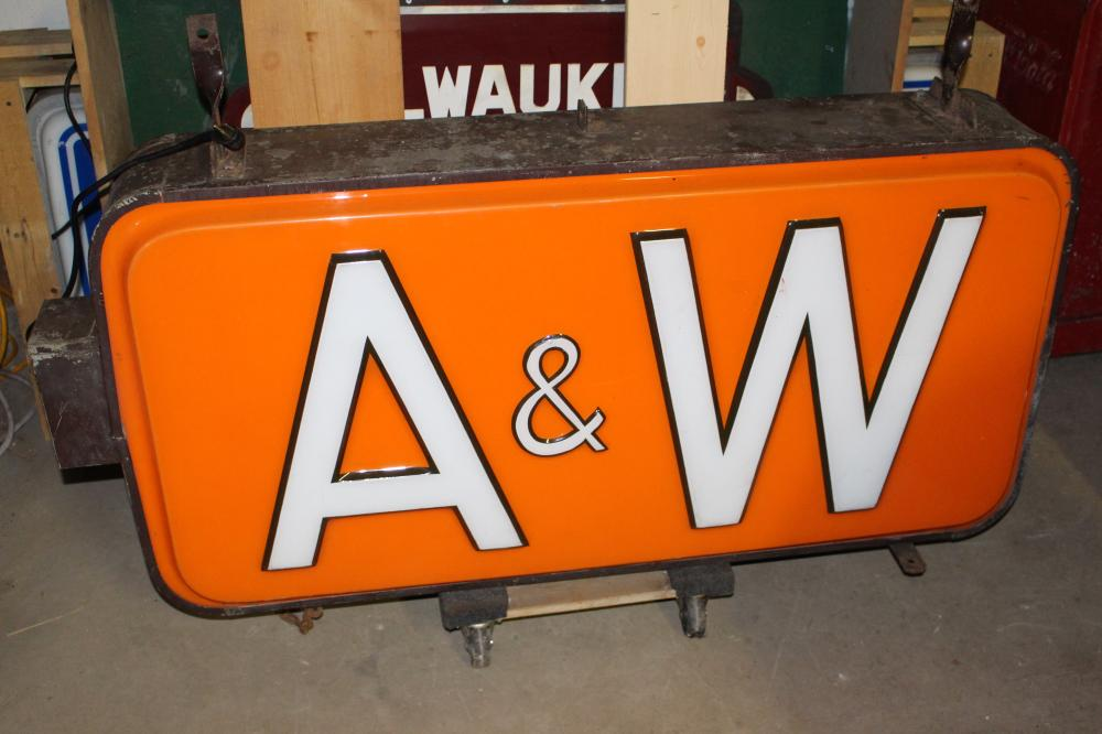 A&W ROOT BEER STAND LIGHTED OUTDOOR SIGN