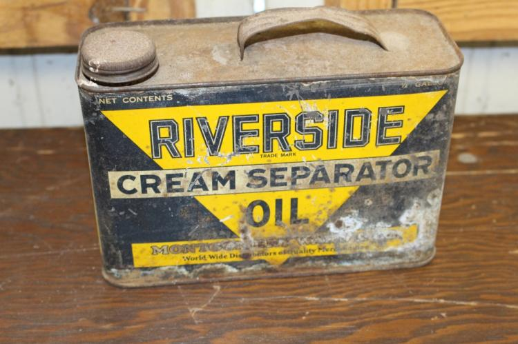 Riverside Creeam Separator Oil Can 1/2 gal