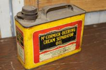 McCormick Deering Cream Separator Oil Can 1/2 Gal