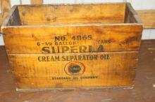 Standard Oil Superla Cream Separator Oil Crate