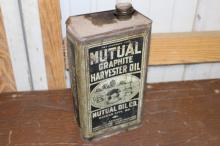 Mutual Oil Co Harvester Oil Can 1 Gal Can