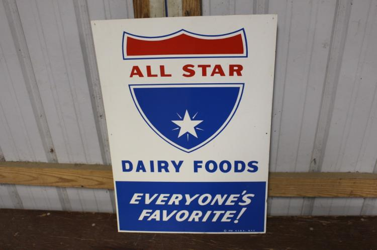 All Star Dairy Foods Tin Sign