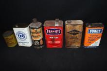 6 Cream Separator & Milk Pulsator Oil Cans