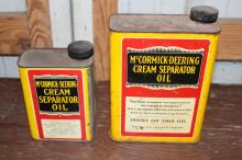 2 McCormick Deering Cream Separator Oil Cans