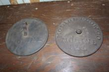 Pair of Moline Plow Co Corn Planter Covers