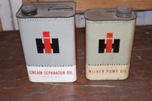 International Harvester Cream Separator Oil Cans