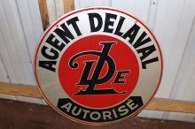 Canadian Authorized De Laval Agent Tin Sign
