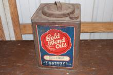 5 Imperial Gal Eaton Gold Bond Oil Can Canada
