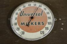 Universal Milkers Thermometer Sign
